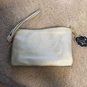 Handbags - Gold wristlet